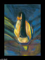 the swan 1995 pastel by champlin