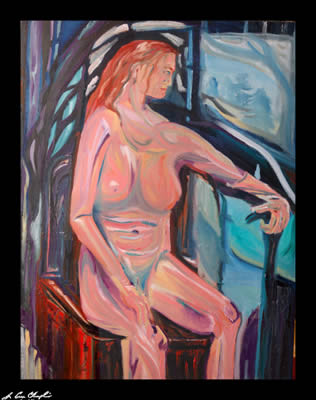 Dreamer by Champlin nude figurative  representational