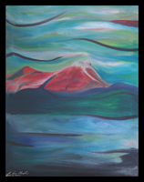 mount katahdin maine maine expressionistic lamdscape by champlin