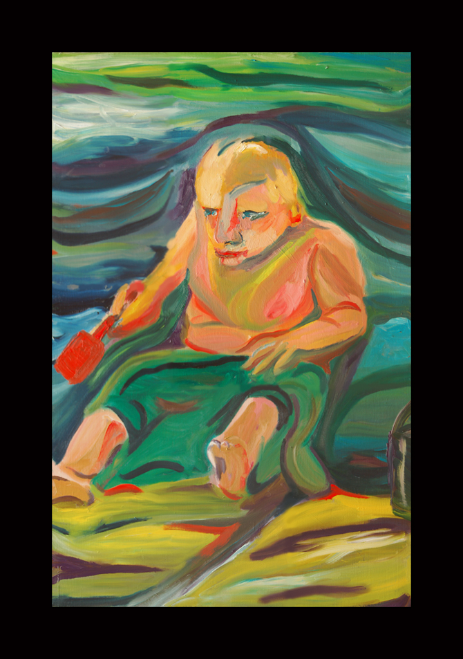 Song of Mischief from 2009 Songs of the Son oil on linen expressionist artwork by the Maine artist D. Loren Champlin